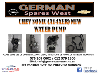 CHEV SONIC (A14XER) NEW WATER PUMP FOR SALE