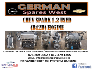 CHEV SPARK 1.2 USED ( B12D ) ENGINE FOR SALE