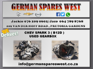 CHEV SPARK 3 (B12D) USED GEARBOX FOR SALE