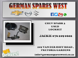 CHEV SPARK 3 USED LOCKSET FOR SALE