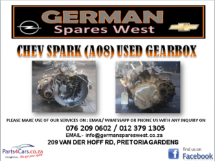 CHEV SPARK (A08) USED GEARBOX FOR SALE