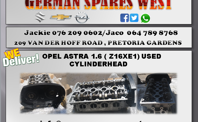 OPEL ASTRA 1.6 ( Z16XE1) CYLINDERHEAD FOR SALE