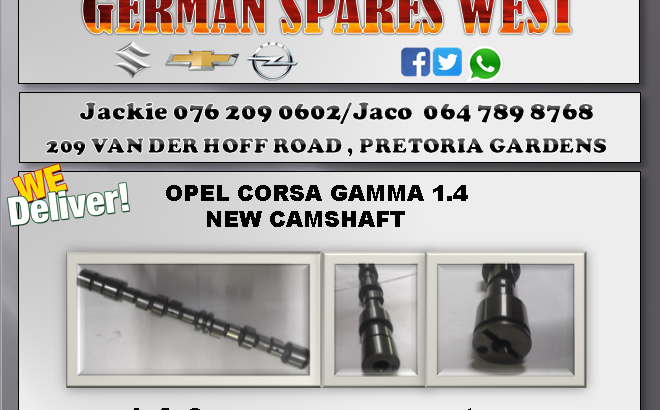 OPEL CORSA GAMMA 1.4 NEW CAMSHAFT FOR SALE