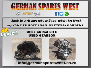 OPEL CORSA LITE USED GEARBOX FOR SALE