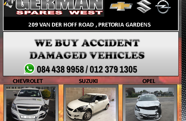 WE BUY ACCIDENT DAMAGED CARS