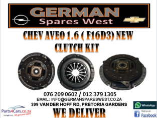 CHEV AVEO 1.6 ( F16D3) NEW CLUTCH KIT FOR SALE