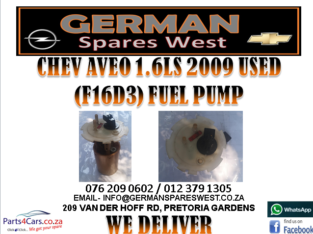 CHEV AVEO 1.6LS 2009 USED FUEL PUMP FOR SALE