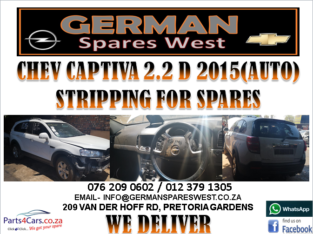 CHEV CAPTIVA 2.2D 2015 (AUTO) STRIPPING FOR SPARES