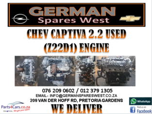 CHEV CAPTIVA 2.2 USED (Z22D1) ENGINE FOR SALE
