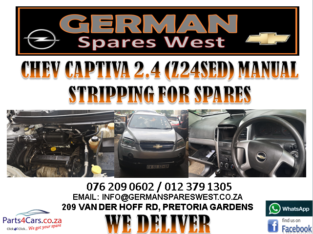 CHEV CAPTIVA 2.4 MANUAL STRIPPING FOR SPARES
