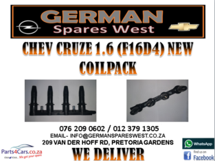 CHEV CRUZE 1.6 (F16D4) NEW COILPACK FOR SALE