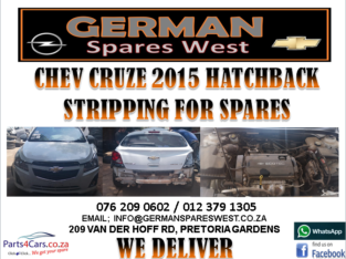 CHEV CRUZE HTACKBACK 2015 STRIPPING FOR SPARES