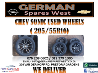 CHEV SONIC USED ( 205/55R16) WHEELS FOR SALE