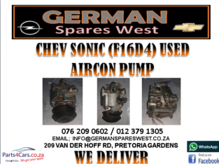 CHEV SONIC (F16D4) USED AIRCON PUMP FOR SALE
