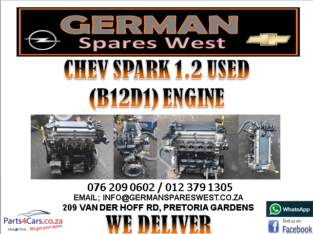 CHEV SPARK 1.2 USED (B12D1) ENGINE FOR SALE