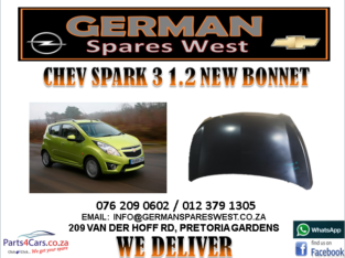 CHEV SPARK 3 1.2 NEW BONNET FOR SALE