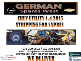 CHEV UTILITY 1.4 2015 STRIPPING FOR SPARES