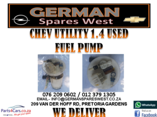 CHEV UTILITY 1.4 USED FUEL PUMP FOR SALE