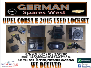 OPEL CORSA E 2015 USED LOCKSET FOR SALE