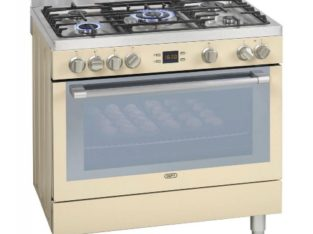 DEFY 5 BURNER STAINLESS STEEL GAS ELECTRIC STOVE