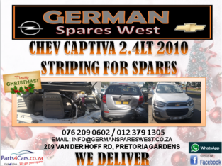 CHEV CAPTIVA 2.4LT 2010 STRIPPING FOR SPARES