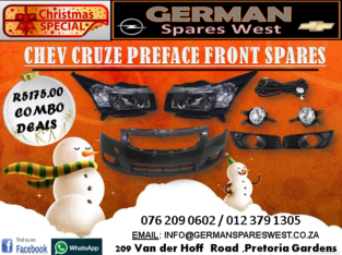 CHEV CRUZE PREFACE NEW FRONT SPARES FOR SALE