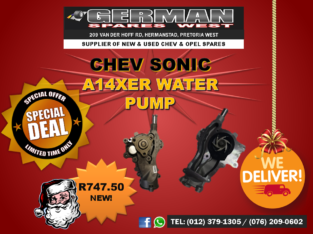 CHEV SONIC – A14XER WATER PUMP FOR SALE – SPECIAL!
