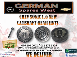 CHEV SONIC 1.6 NEW CAMSHAFT GEAR (INT) FOR SALE
