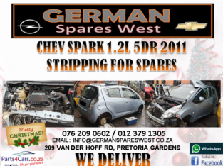 CHEV SPARK 1.2L 5DR 2011 STRIPPING FOR SPARES