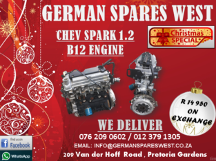 CHEV SPARK 1.2 B12 ENGINE FOR SALE