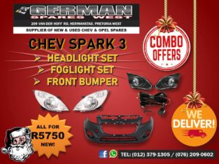 CHEV SPARK 3 FRONT PARTS COMBO DEAL – SPECIAL!