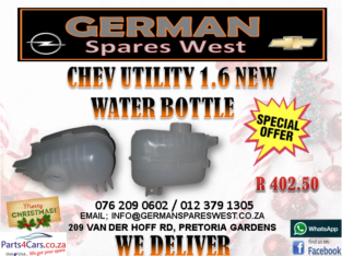 CHEV UTILITY 1.6 NEW WATERBOTTLE FOR SALE