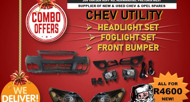 CHEV UTILITY FOG LIGHT SET+HEADLIGHT SET+F/BUMPER
