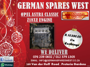 OPEL ASTRA CLASSIC Z18XE ENGINE FOR SALE