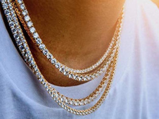 1 Row Iced Out Tennis Chains/Necklaces-