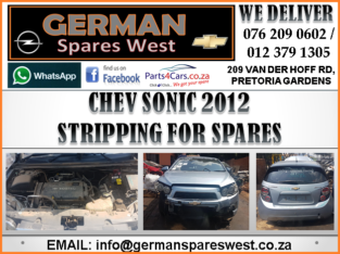 CHEV SONIC 2012 STRIPPING FOR SPARES