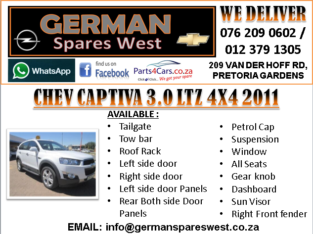 CHEV CAPTIVA 3.0 LTZ 2011 SPARE PARTS AVAILABLE