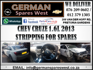 CHEV CRUZE 1.6L 2013 STRIPPING FOR SPARES