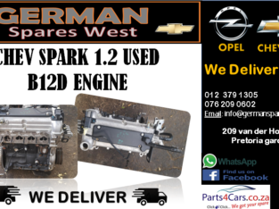 CHEV SPARK 1.2 USED B12D ENGINE FOR SALE
