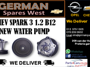 CHEV SPARK 3 1.2 B12 NEW WATER PUMP FOR SALE