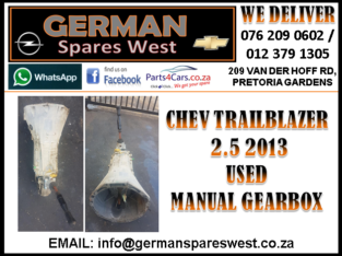 CHEV TRAILBLAZER 2.5USED MANUAL GEARBOX FOR SALE
