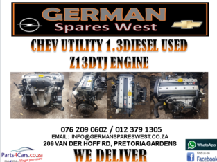 CHEV UTILITY 1.3 DIESEL Z13DTJ ENGINE FOR SALE