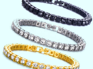 1 Row Iced Out Tennis Bracelets-Cz Stones