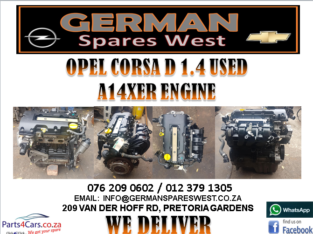 OPEL CORSA D 1.4 USED A14XER ENGINE FOR SALE