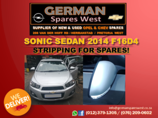 Sonic Sedan 2014 F16D4 STRIPPING FOR SPARES!