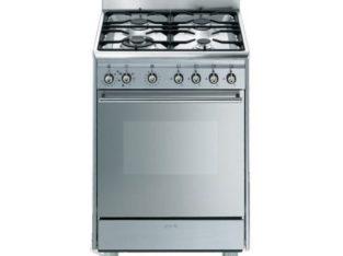 Smeg 60cm Stainless Steel Cooker with 4 Burner