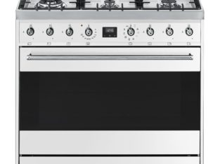 Smeg 90cm Stainless Symphony White Cooker Stove