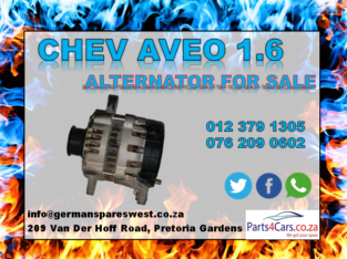 CHEV AVEO 1.6 USED ALTERNATOR FOR SALE
