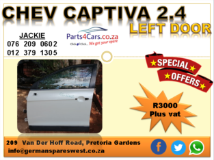 CHEV CAPTIVA 2.4 2011 USED LEFT DOOR FOR SALE