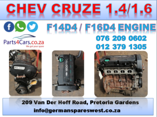 CHEV CRUZE USED (F14D4 / F16D4) ENGINE FOR SALE